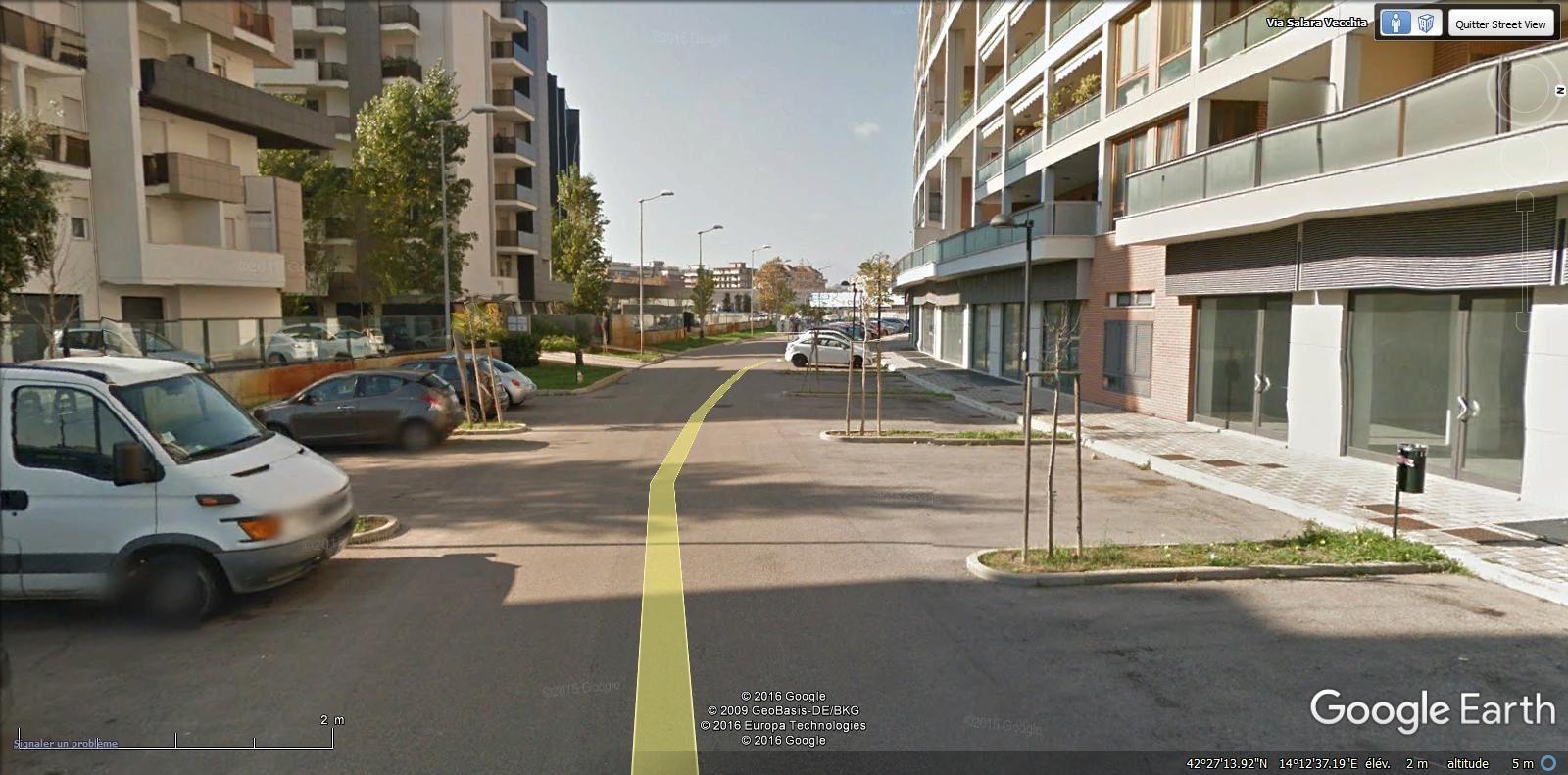 traverse de la via Salara Vecchia