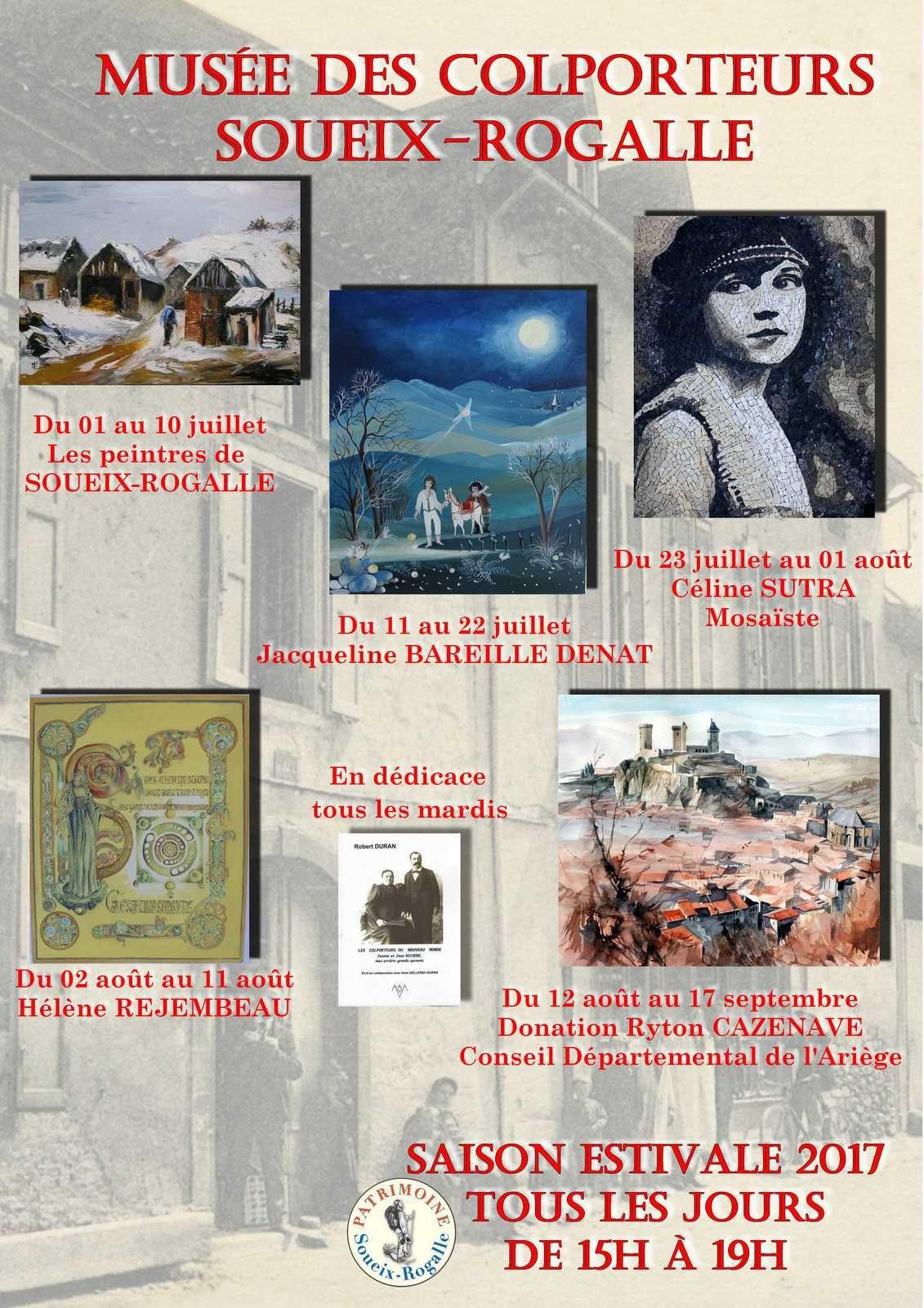 Expositions des Artistes : Estivales 2017