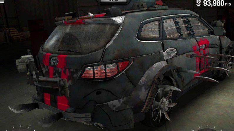 la voiture anti zombie