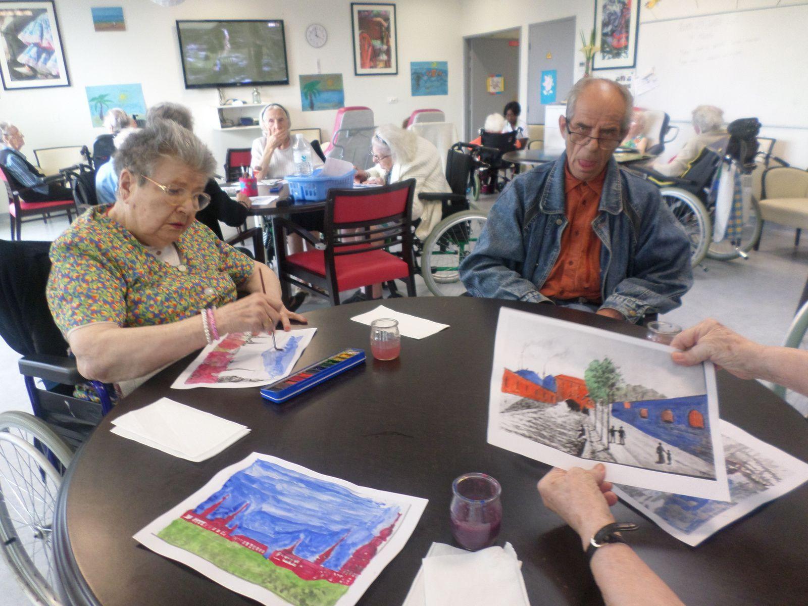 dessins à l'aquarelle de paysages de la région