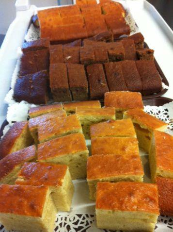 Sortie à la maison des quartiers, dégustation de nos gâteaux