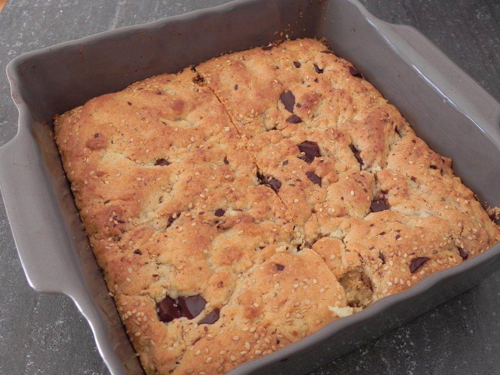 Gâteau de cookies au sésame