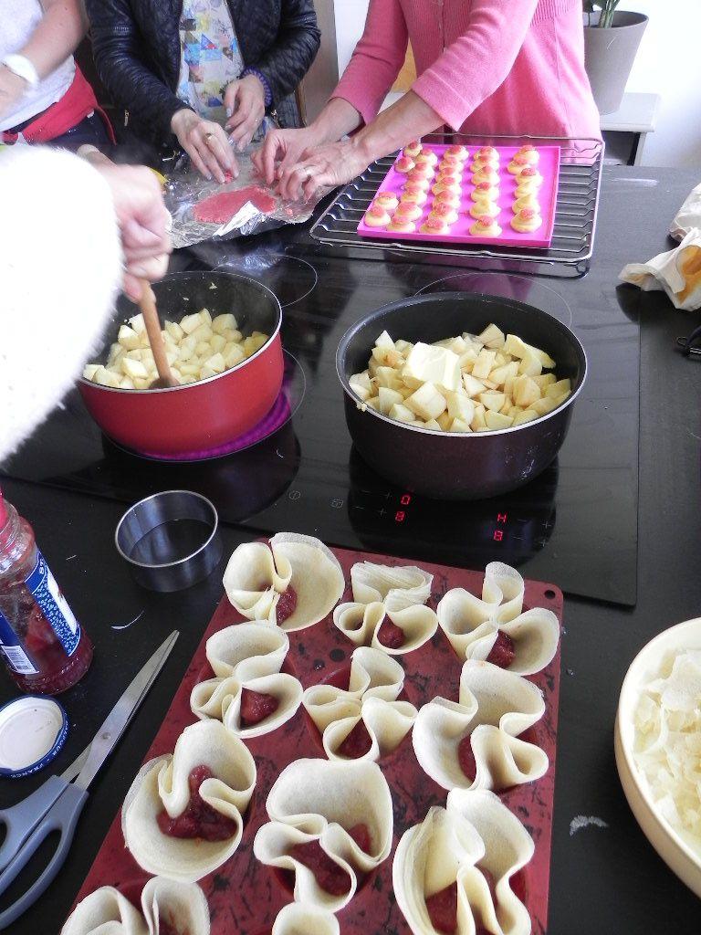 Faire dorer les pommes dans une casserole