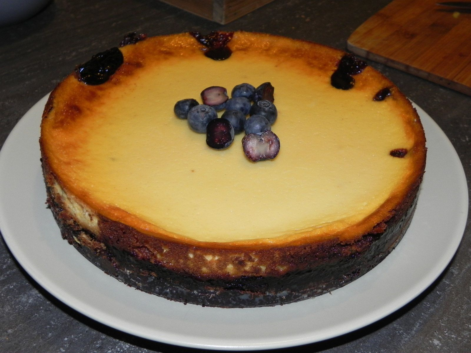 Cheesecake à la myrtille