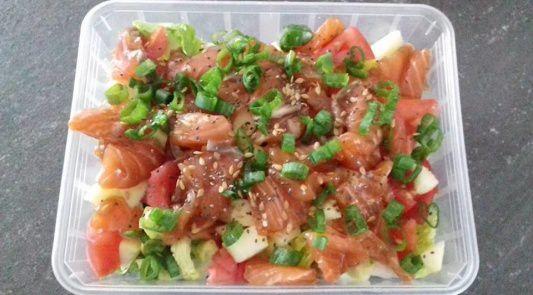 Salade de saumon fumé aux pommes