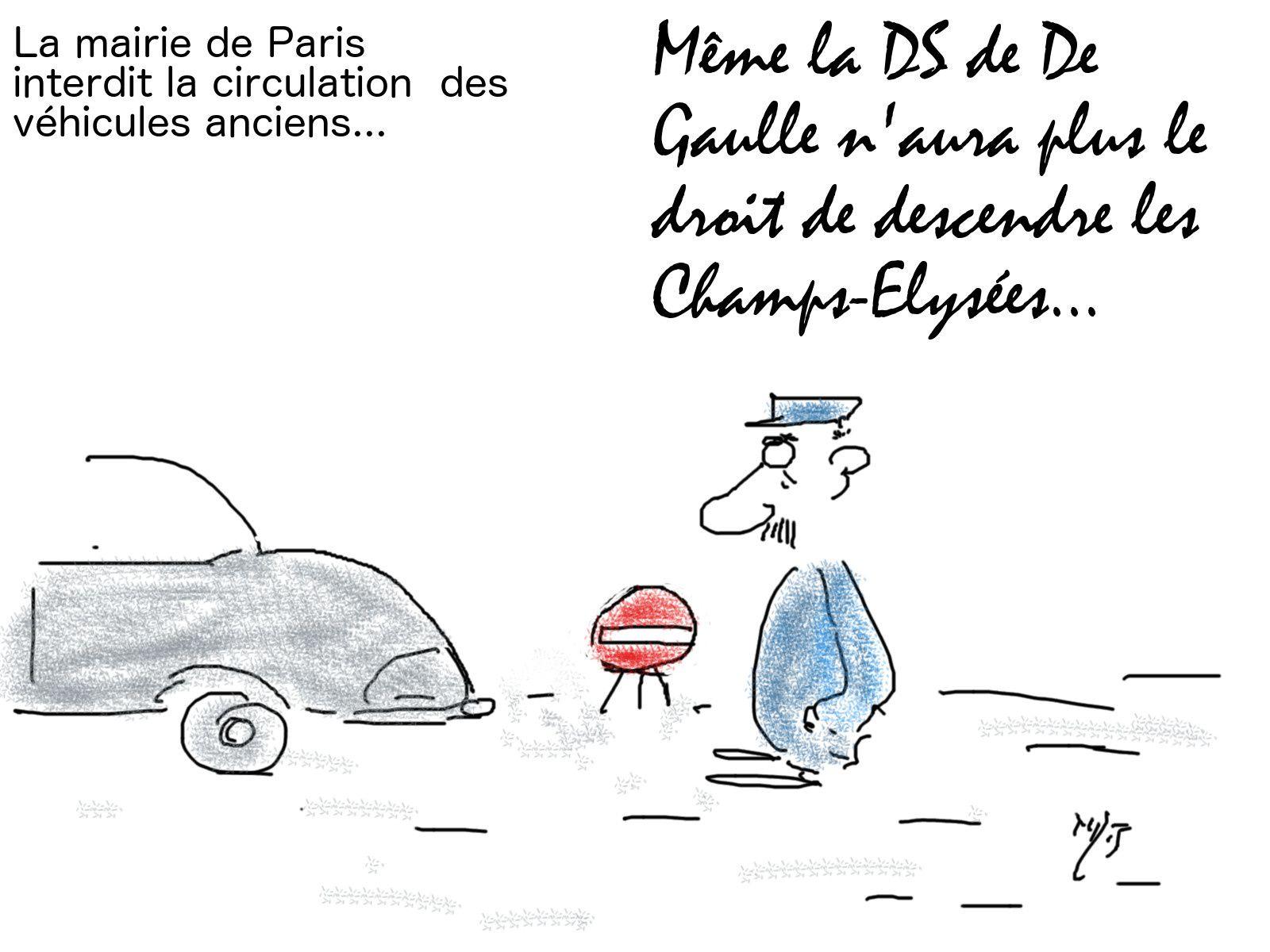 Inerdire vieilles voitures à Paris
