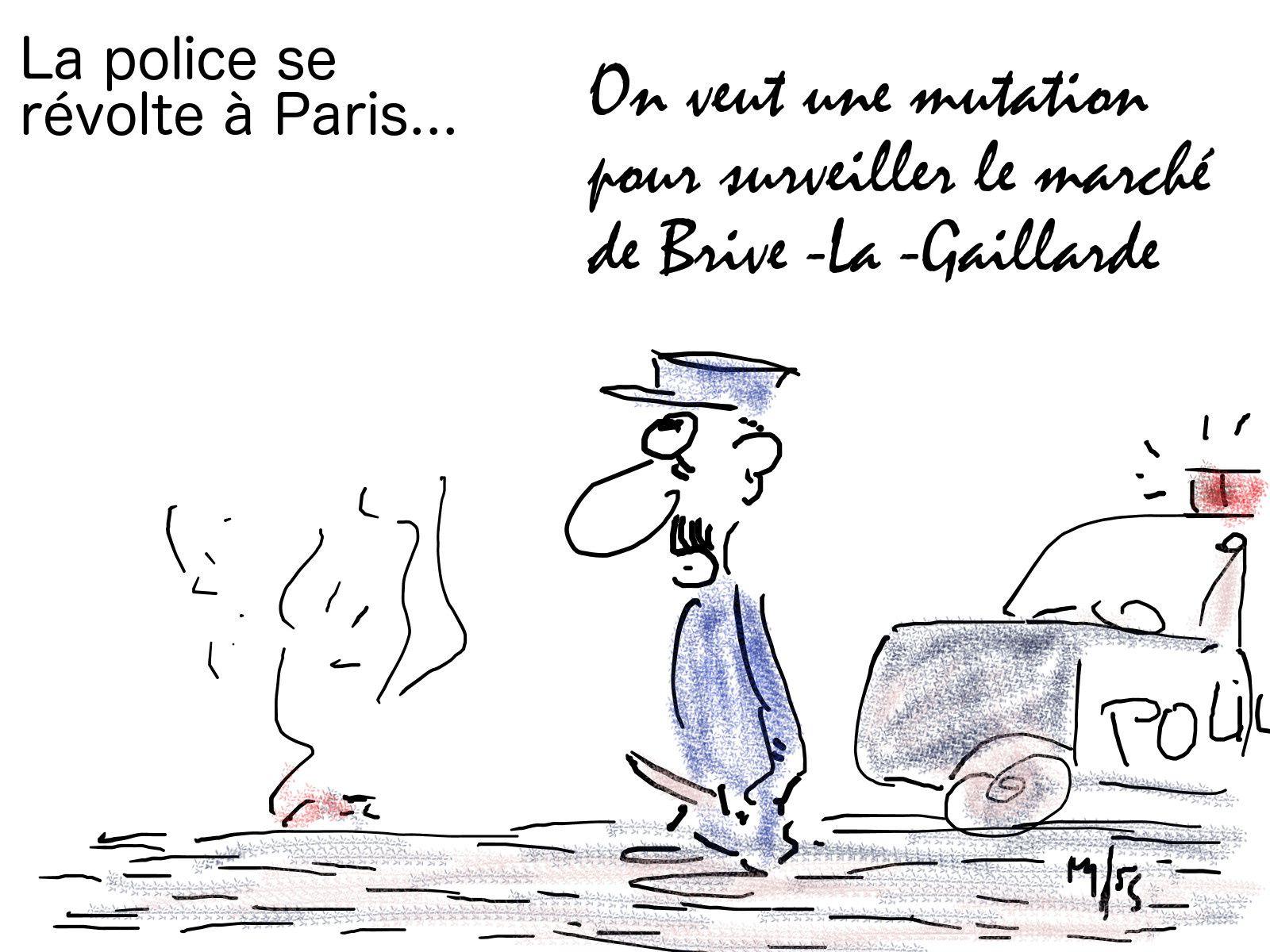 police en lutte