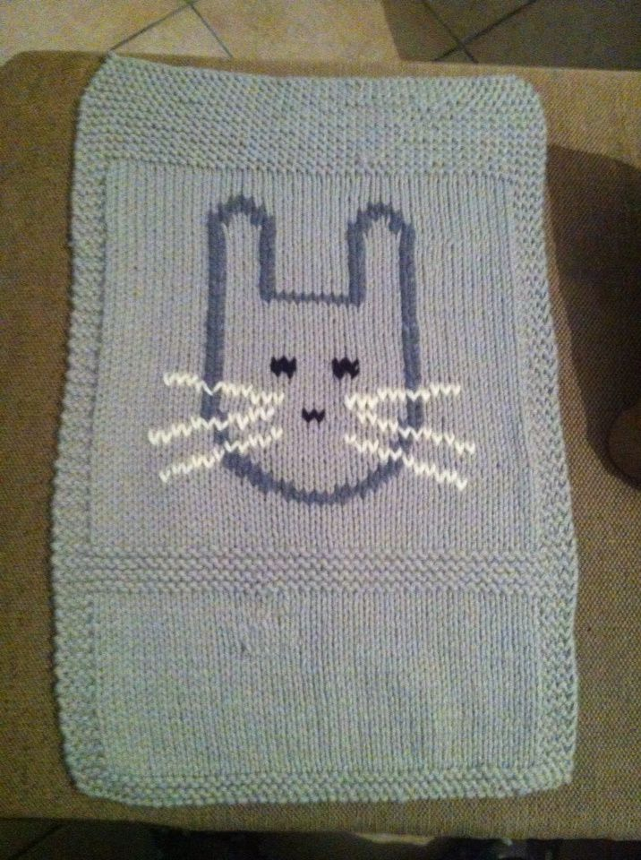 Couverture Lapin - Phildar terminer