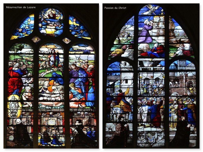 """L'âge d'or de l'architecture gothique et du vitrail a commencé avec l'Abbé Suger qui voulait orner son abbaye de Saint Denis avec """"des vitraux les plus radieux"""" pour """"Qu'ils éclairent l'âme des hommes et qu'à cette lumière ils parviennent à comprendre la Lumière de Dieu."""""""