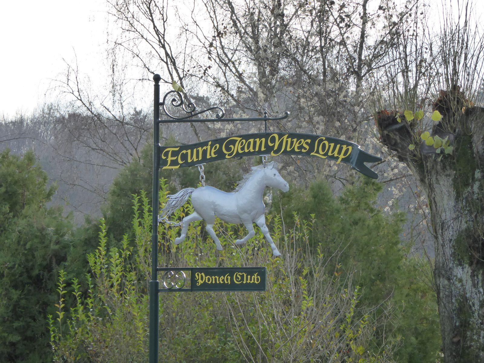 Sur le GR111B, route de Boutervillers, nous passons devant l'écurie-poney-club de Chalo-Saint-Mars.