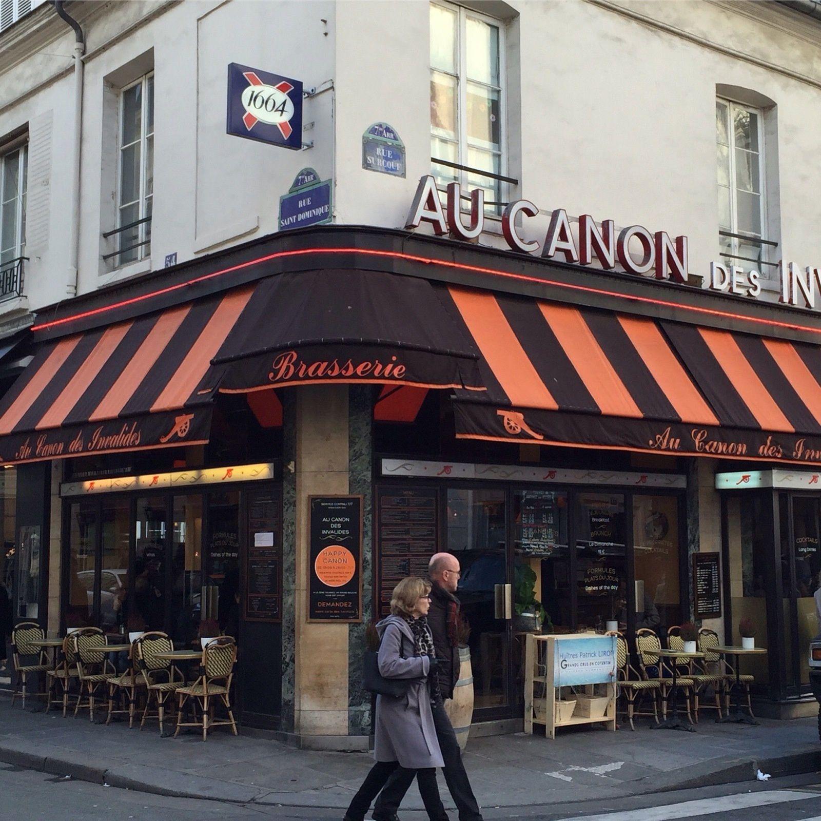 "Brasserie ""Au canon des Invalides"" 54, rue Saint Dominique."