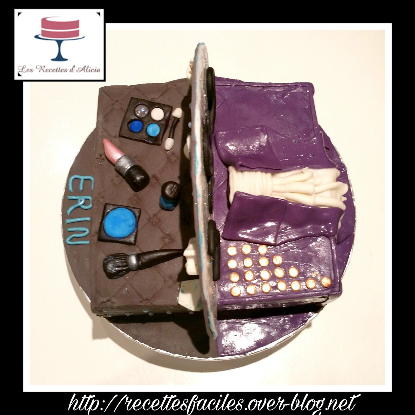 gateau love symbol et maquillage
