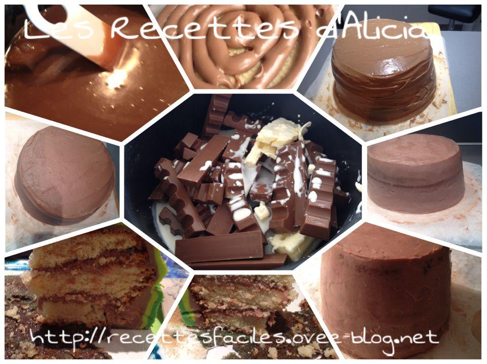 Cake Design Recette Genoise : Ganache kinder - Les recettes d Alicia