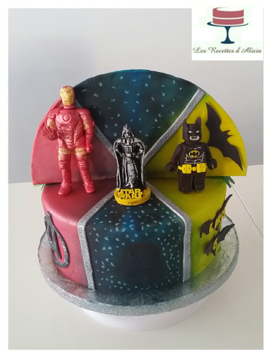 lego batman iron man cake