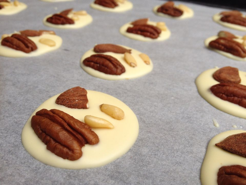 Mendiants chocolat blanc simplissimes