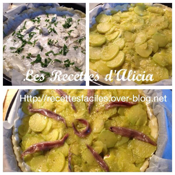 Tarte courgette fromage basilic