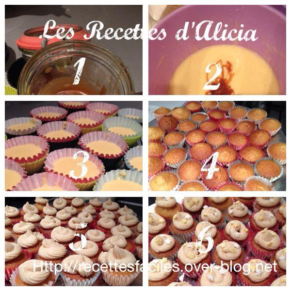 Mini cupcakes caramel beurre salé