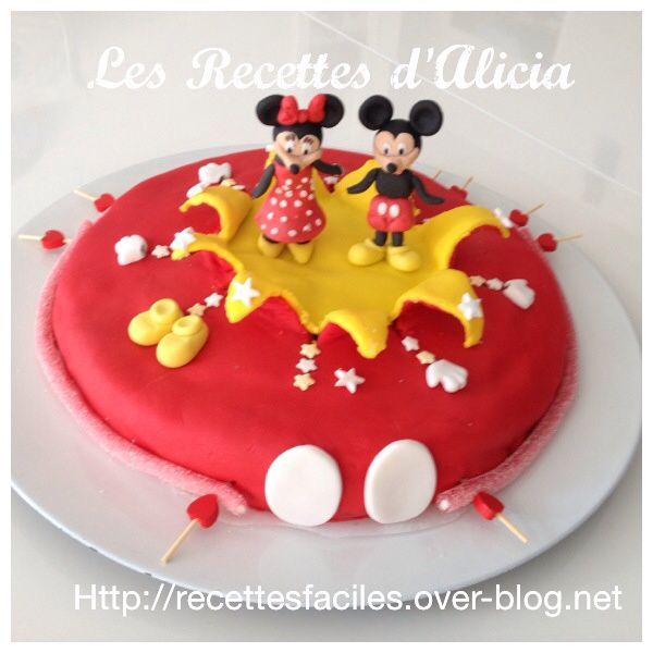 gateau mickey minnie pate a sucre