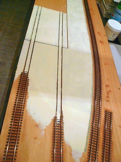 Diorama &quot&#x3B;Dépôt de Chateauroux&quot&#x3B; - Préparation des voies noyées