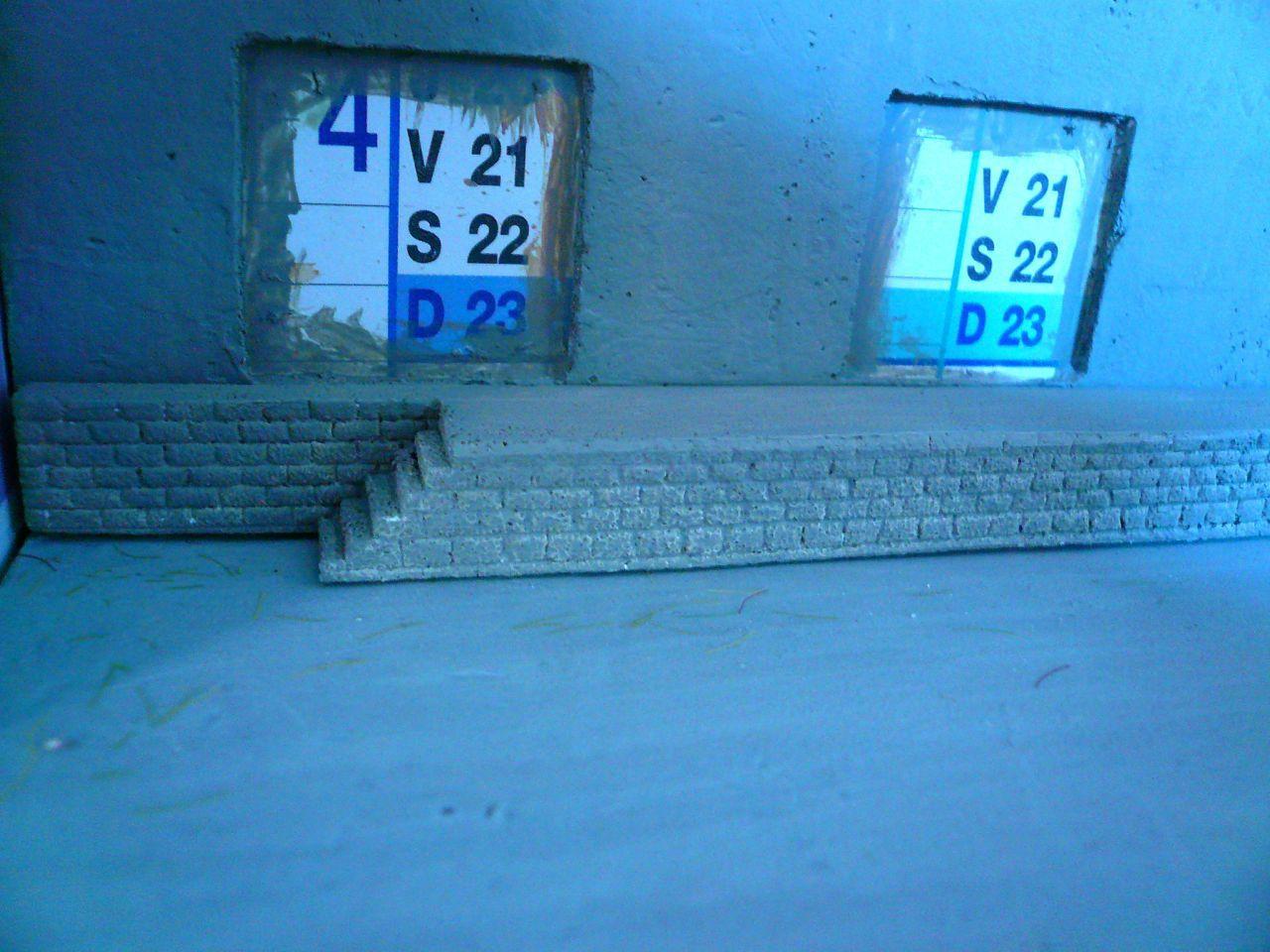 Diorama &quot&#x3B;Dépôt de Chateauroux&quot&#x3B; - Construction des bâtiments (2)