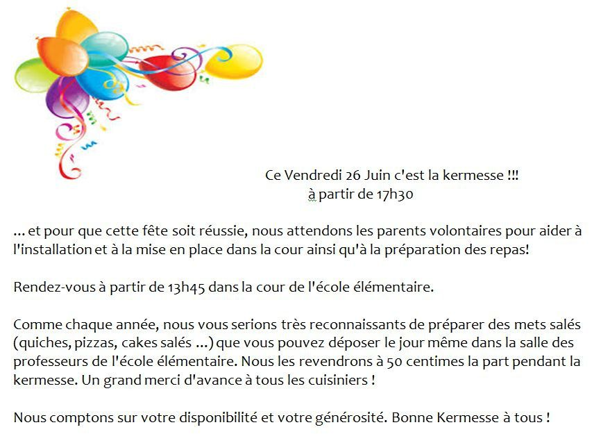 Connu kermesse - pies-elementaire.over-blog.com BH93
