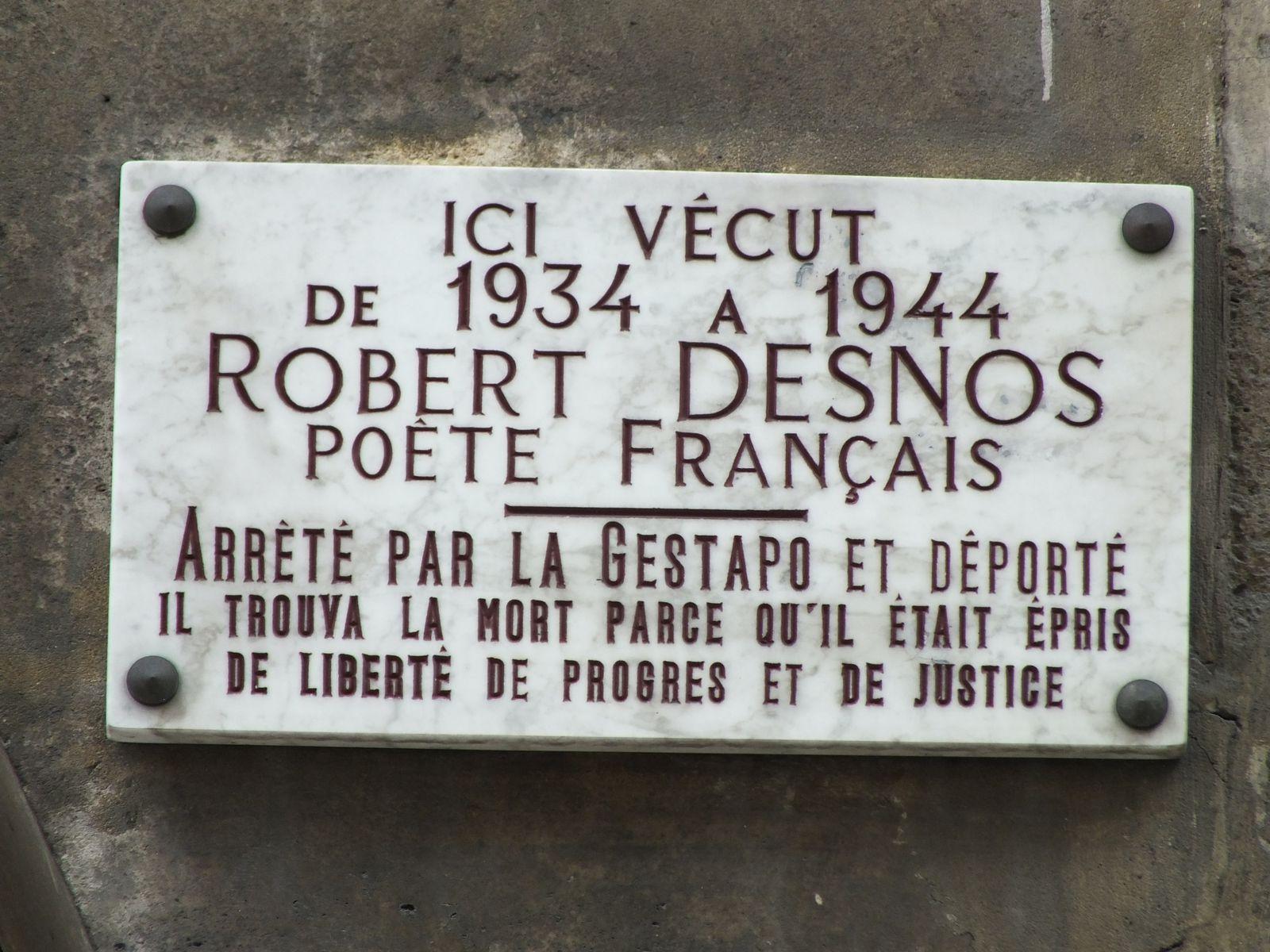 Robert Desnos, la Résistance, la déportation