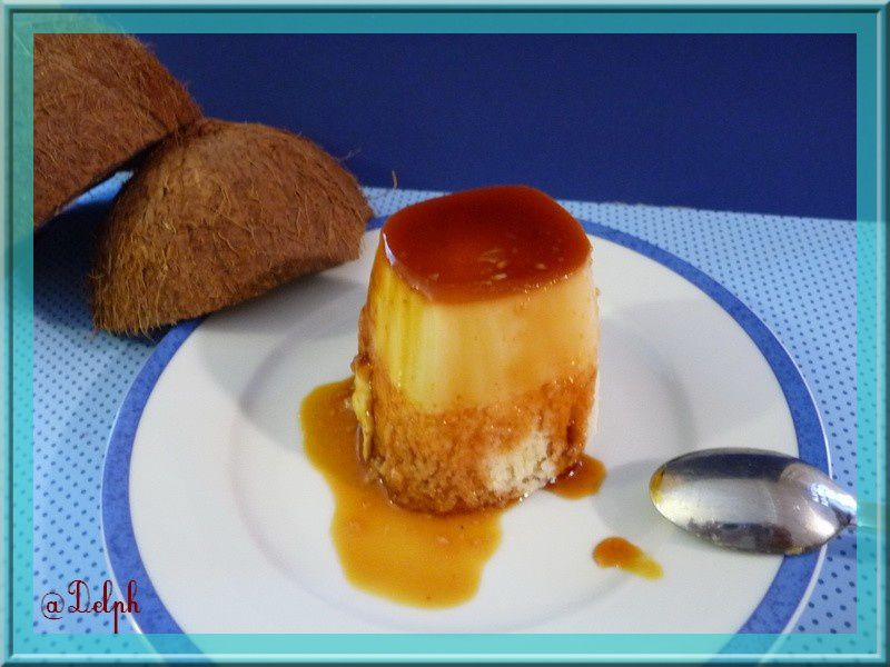 flan de coco en yaourt thermomix oh la gourmande. Black Bedroom Furniture Sets. Home Design Ideas