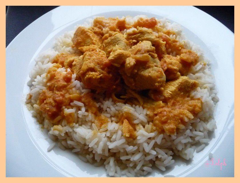Curry de poulet