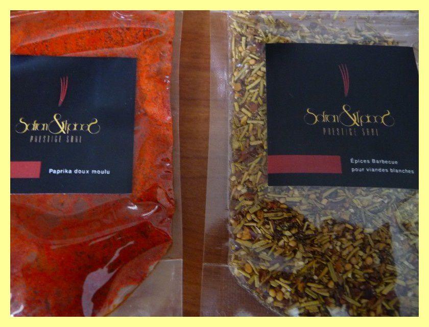 Paprika doux moulu et Epices pour viandes blanches
