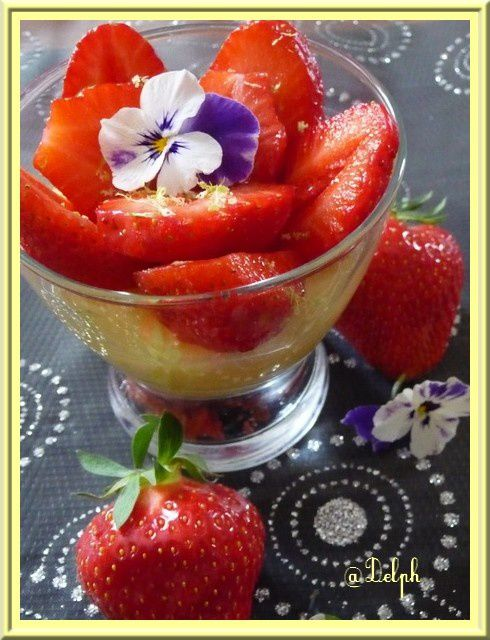 tarte citron fraises en verrine oh la gourmande. Black Bedroom Furniture Sets. Home Design Ideas