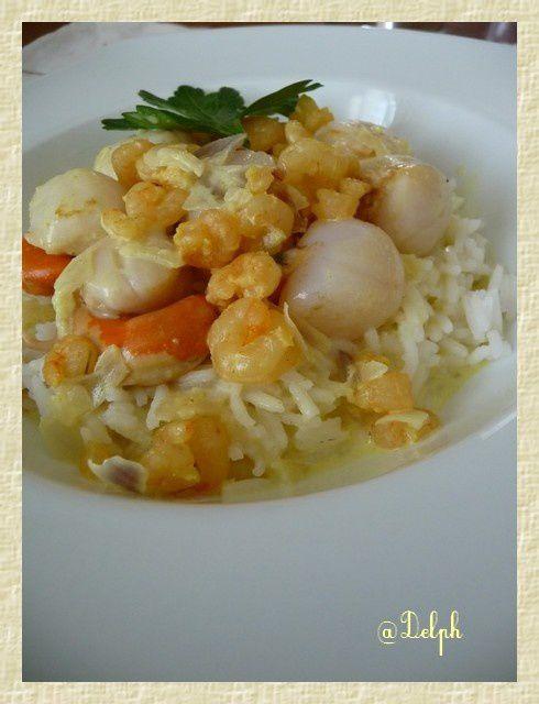 Noix de St-Jacques à la crème de Curry
