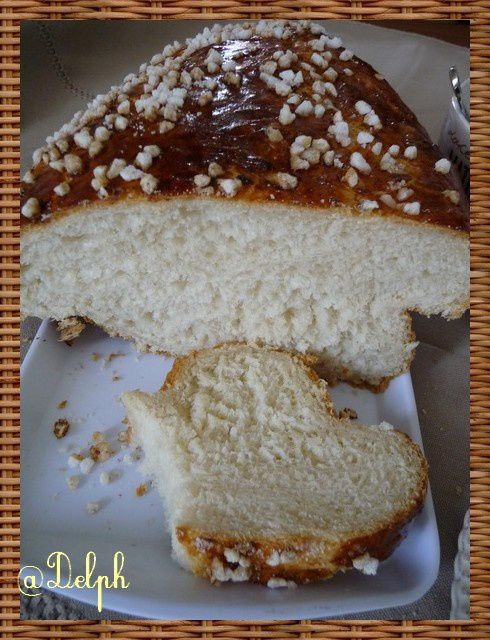 Brioche Mouna au thermomix.