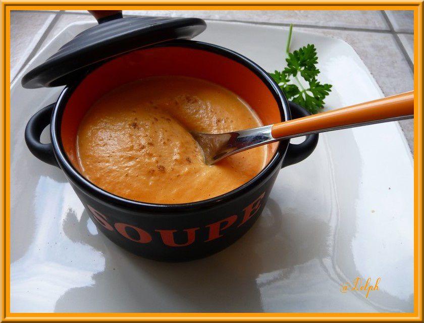 Velouté de carottes au lait concentré