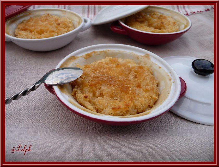 Riz au lait vanillé caramélisé à la noix de coco