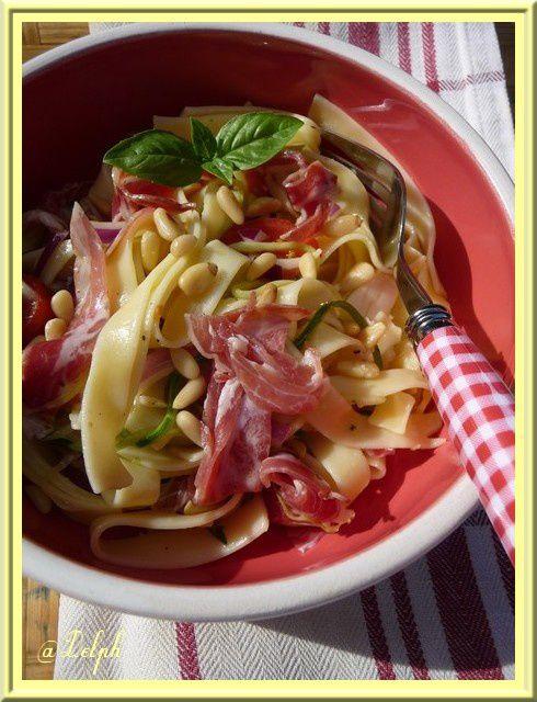 Salade de pâtes à la coppa