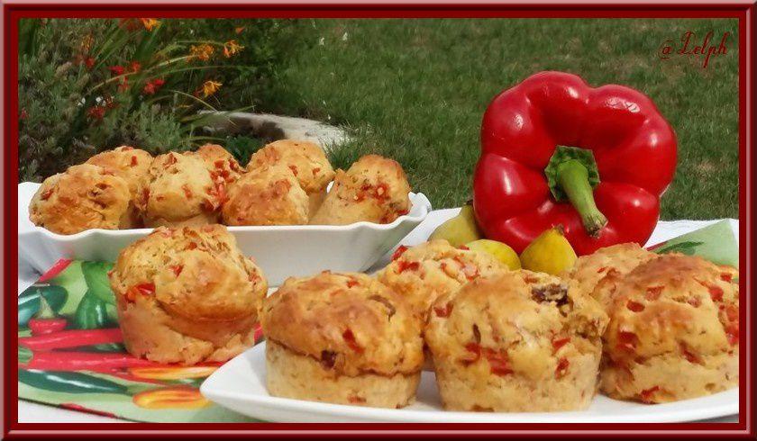 Muffins aux poivrons et figues