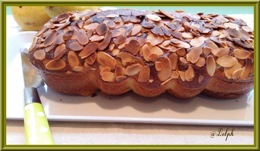Cake poires / amande