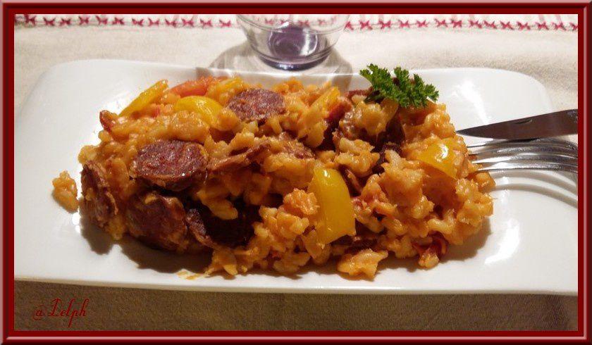 One pot pasta : chorizo, tomate et poivron