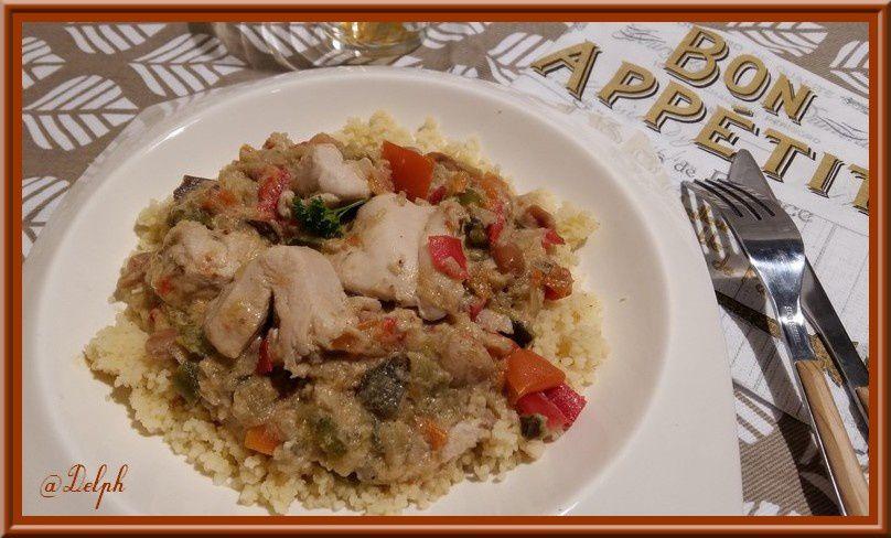 Filets de poulet et son Curry de légumes