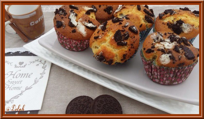 Muffins aux Oréos.