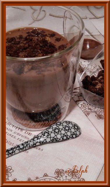 Panna Cotta au Chocolat et son Streusel au cacao
