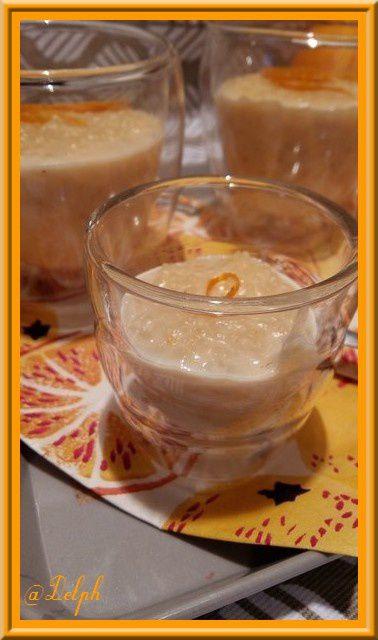 Riz au lait au zeste d'orange au Thermomix
