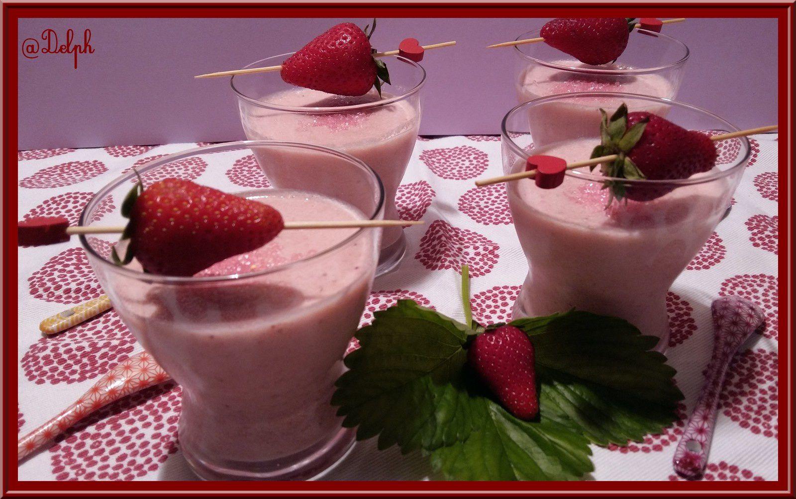 Mousse de fraise au fromage blanc