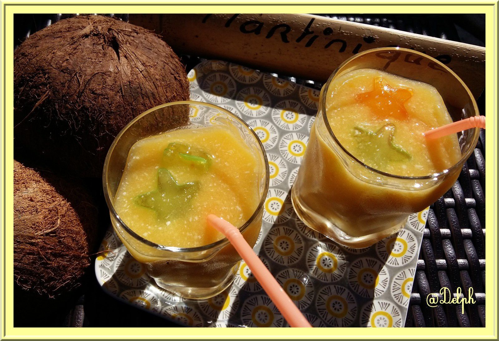 Smoothie mangue eau de coco