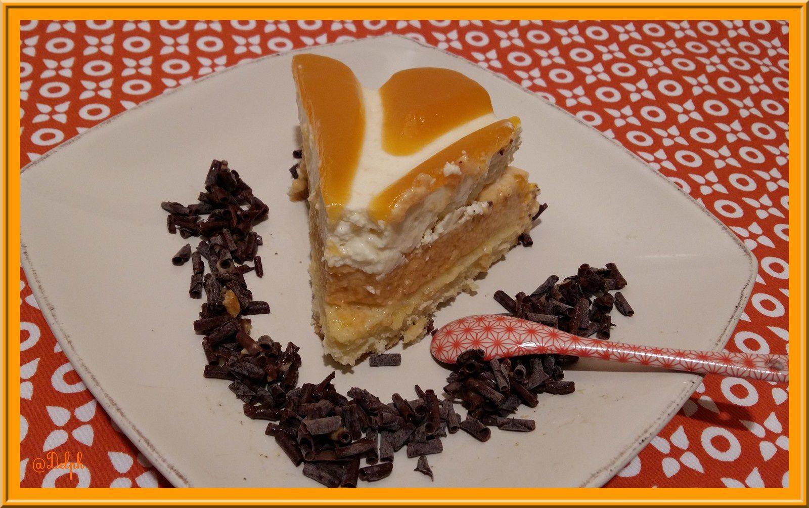Entremet Chocolat blanc et Abricot