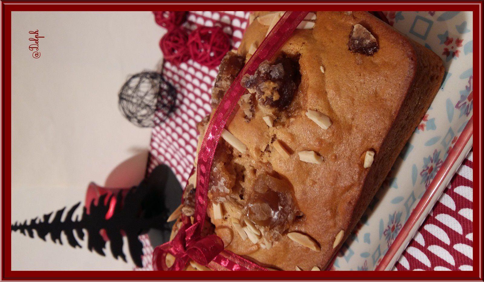 Pain d'épices aux amandes et marrons glacés