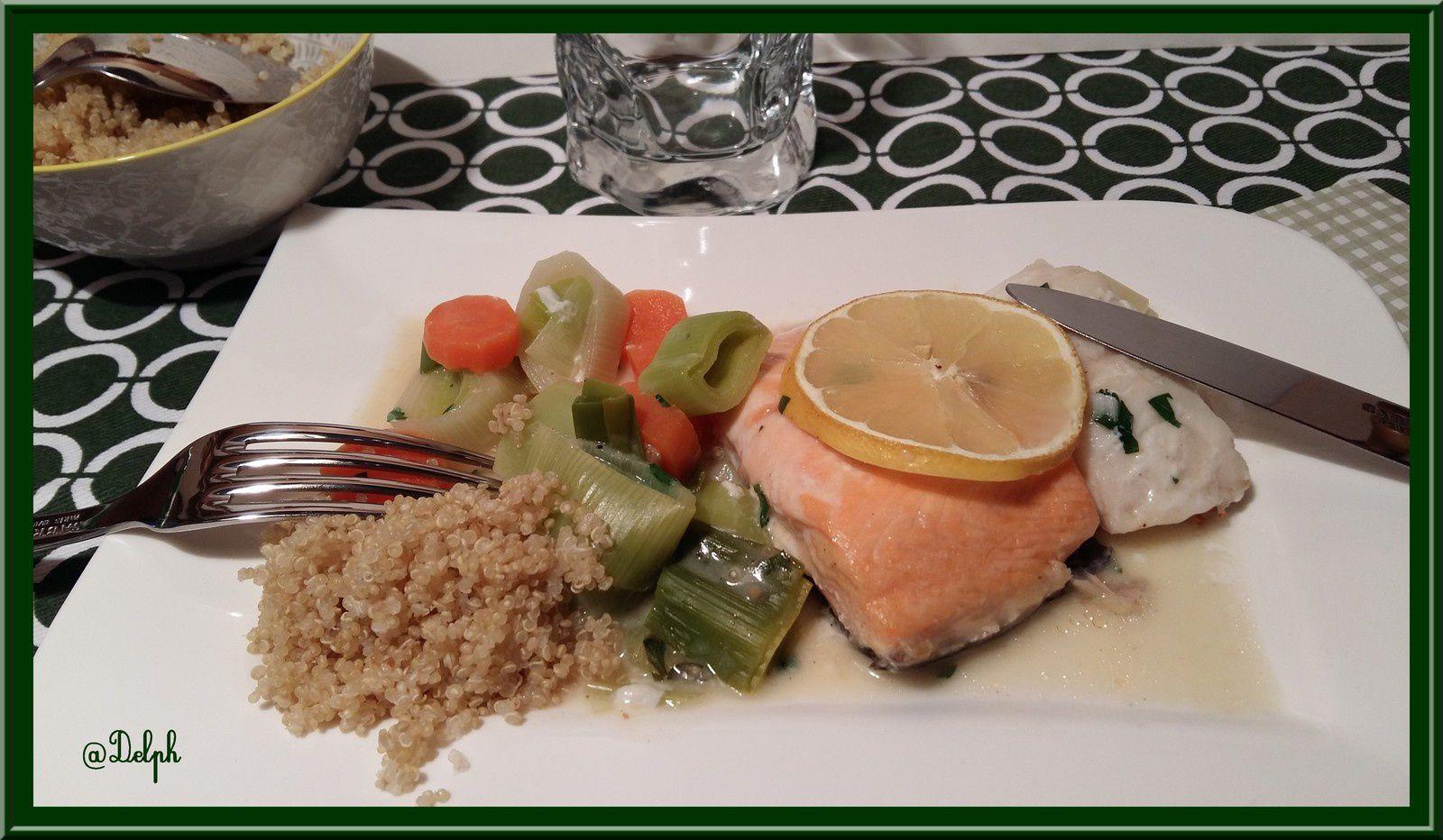 Gratin marin sur lit de légumes sauce moutarde