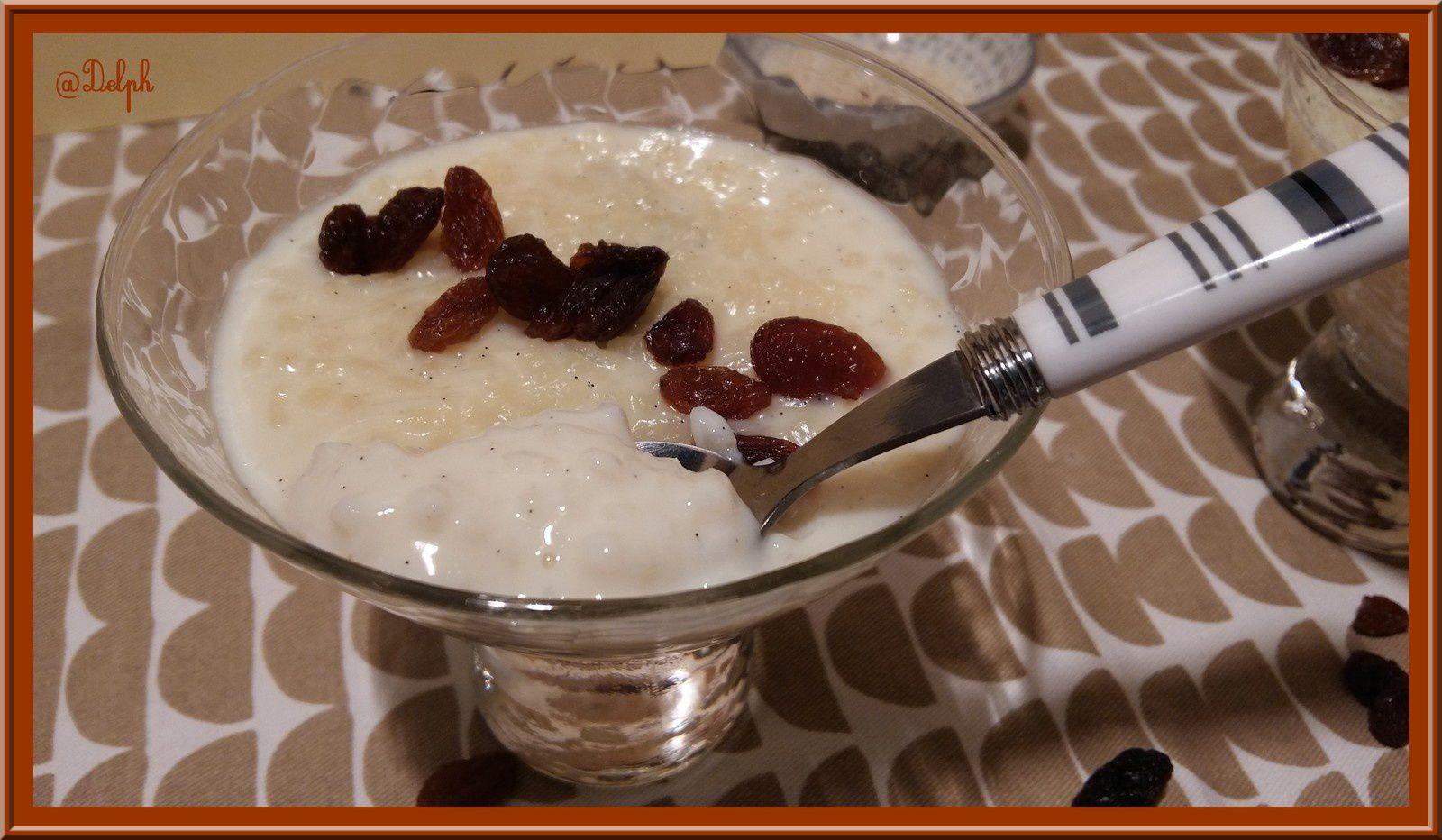 Riz au lait aux raisins et Rhum