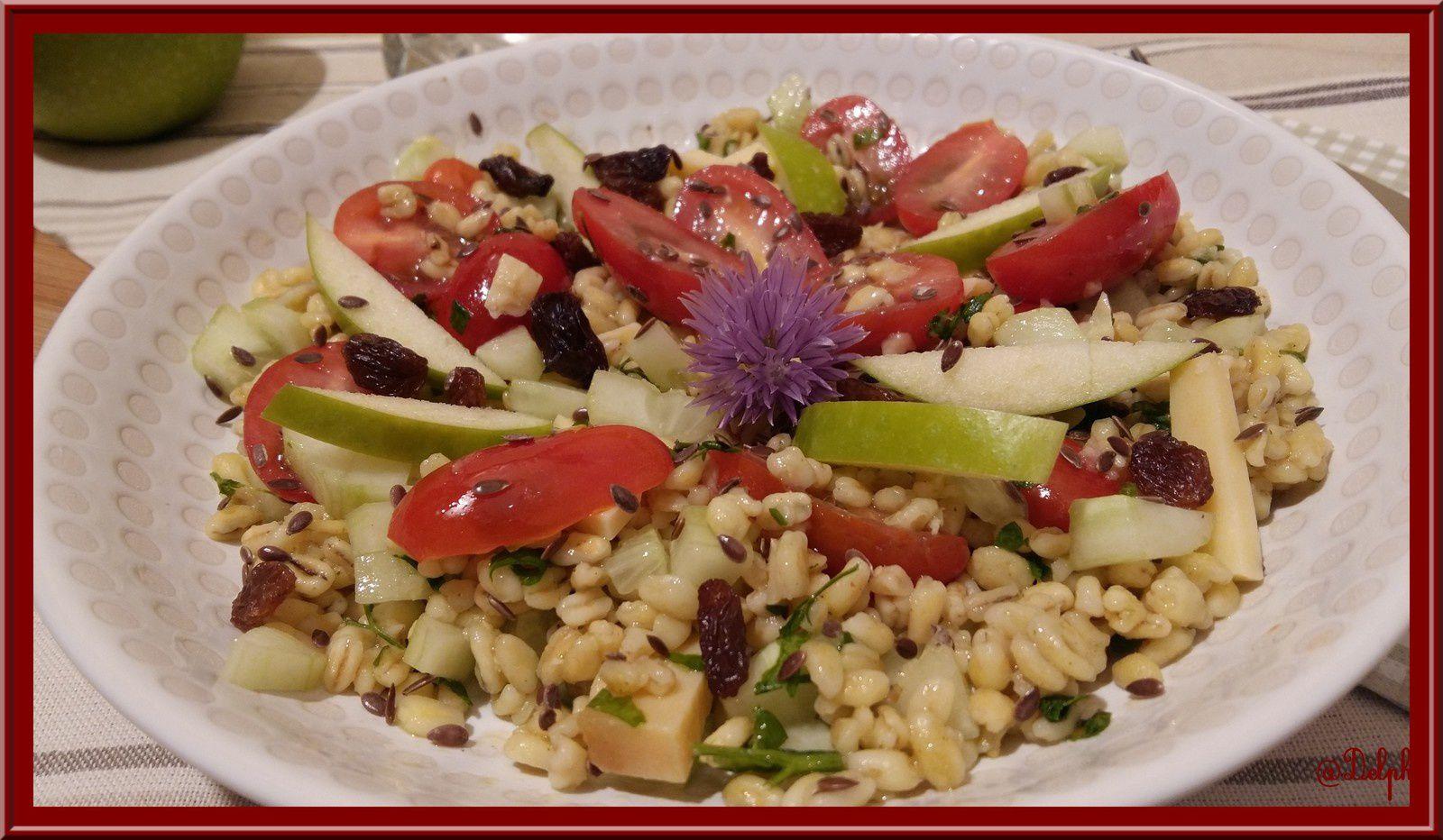Salade de Blé sucrée-salée