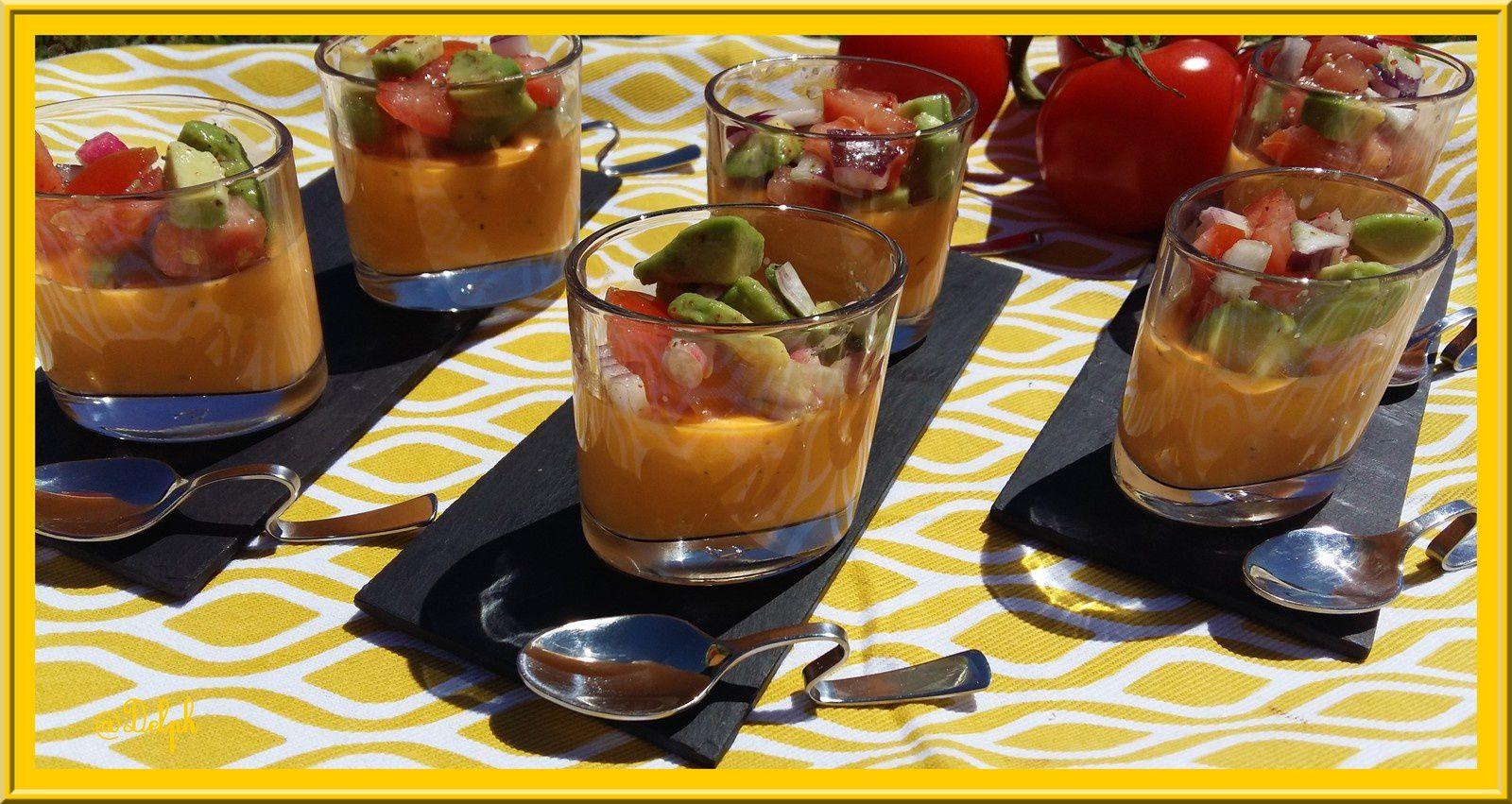 Panna cotta de tomate et sa salade au Thermomix